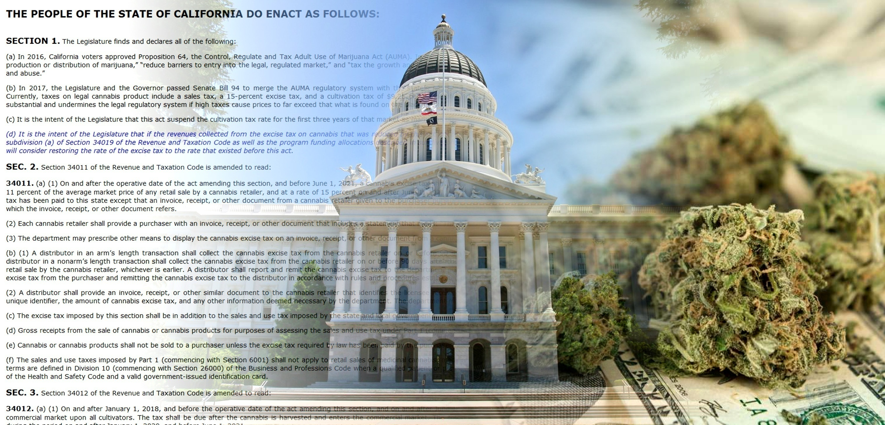 San Diego Sales Tax 2017 >> California Bill To Cut Adult Use Taxes Stalls In Committee Candid